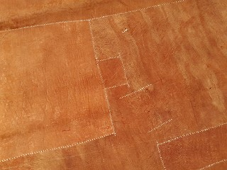 Bark cloth showing patches