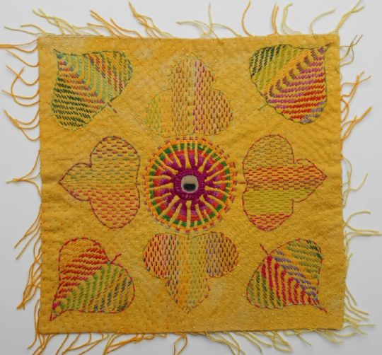 Small kantha mat stitched by Surjeet Husain